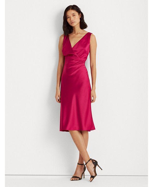 Lauren Ralph Lauren Satin Cocktail Dress, Created for Macy's