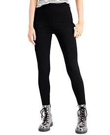 Juniors' High-Waist Side-Pocket Ponte Leggings