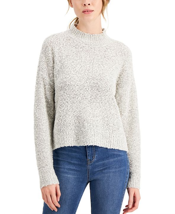 Hooked Up by IOT Juniors' Bouclé Sweater