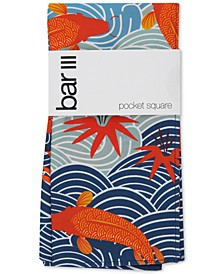 Men's Koi Pond Pocket Square, Created for Macy's