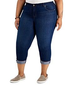 Plus Size Tummy Control Capri Jeans, Created for Macy's