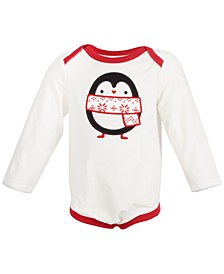 Baby Boys & Girls Holiday Penguin Bodysuit, Created for Macy's