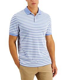Men's Striped Soft Cotton Interlock Polo, Created for Macy's