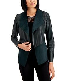 Knit-Back Mixed-Media Jacket, Created for Macy's