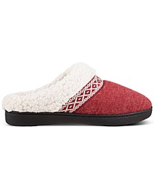 Women's Heather-Knit Ada Hoodback Slippers