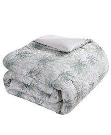 Distressed Palm Full-Queen Comforter Set