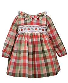 Baby Girls Pumpkin Harvest Smocked Dress