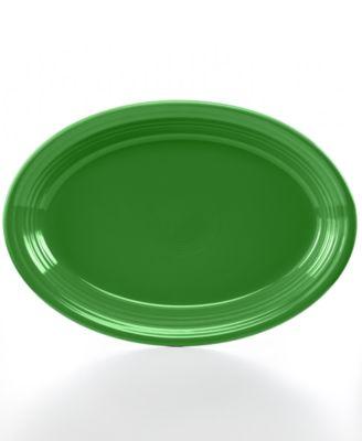 "Shamrock 13"" Oval Platter"