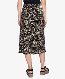 Everyday Printed Midi Skirt