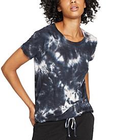 Lou Tie-Dyed Drawstring-Hem T-Shirt
