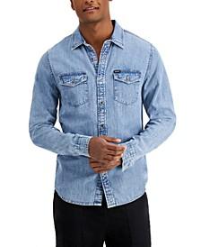 Men's Slim Fit Denim Shirt