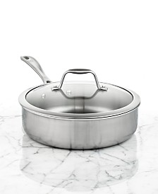 Zwilling J.A. Henckels Spirit Polished Stainless Steel 3 Qt. Covered Saute Pan