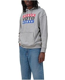 Men's Vote Relaxed Graphic Hoodie