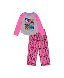 LOL Surprise! Little and Big Girls 2-Piece Pajama Set