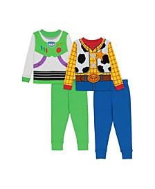 Toy Story Toddler Boys 4-Piece Pajama Set
