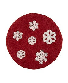 Wool Snowflakes Trivet