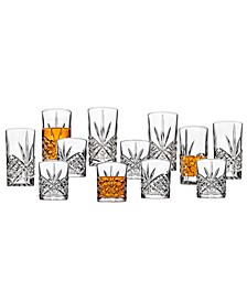Dublin 12 Piece Set of 6 DOF Glasses & 6 Highball Glasses