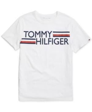 Tommy Hilfiger Adaptive Men's Villa Signature Logo Graphic T-Shirt with Sensory Style