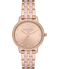 Women's Melissa Three-Hand Rose Gold-Tone Stainless Steel Bracelet Watch 36mm