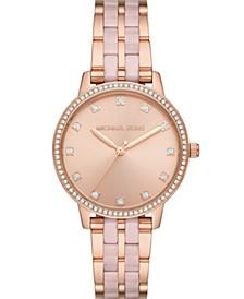 Women's Melissa Three-Hand Rose Gold-Tone Stainless Steel Bracelet Watch 36mm