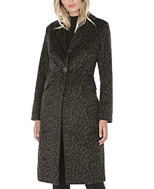 Leopard-Print Walker Coat, Created for Macy's