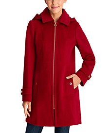Petite Hooded Coat, Created for Macy's