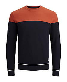 Jack & Jones Men's Crew Neck Long Sleeve Knitted Sweater