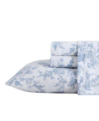 Vanessa Flannel Cotton Twin Sheet Set