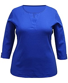 Plus Size Keyhole Top, Created for Macy's
