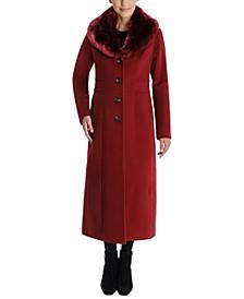 Faux-Fur Shawl-Collar Maxi Coat