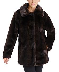 Faux-Fur Mink Coat