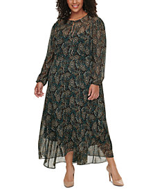 Tommy Hilfiger Plus Size Paisley-Print Dress