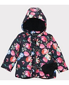 Rothschild Baby Girls Ruffle Jacket with Mittens