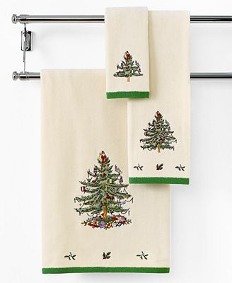 CLOSEOUT! Spode Bath Towels, Holiday Tree Collection
