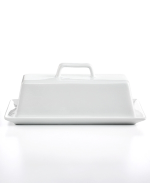 The Cellar Whiteware Covered Butter Dish, Created for Macy's