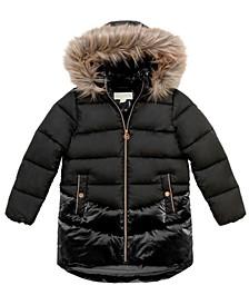 Big Girls Stadium Length Puffer Jacket