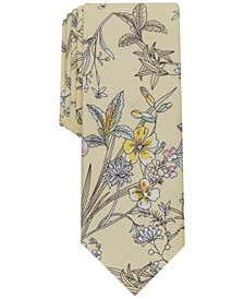 Men's Vale Slim Floral Tie, Created for Macy's
