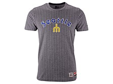 New Era Men's Seattle Mariners Pinstripe Crew Top II