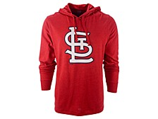 '47 Brand Men's St. Louis Cardinals Imprint Club Long Sleeve Hooded T-Shirt