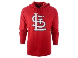 '47 Brand Men's St. Louis Cardinals Imprint Club Long Sleeve Hooded T-Shirt