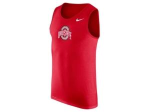 Nike Men's Ohio State Buckeyes Dri-fit Cotton Logo Tank