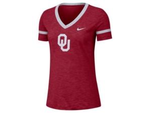 Nike Women's Oklahoma Sooners Slub V-neck T-Shirt
