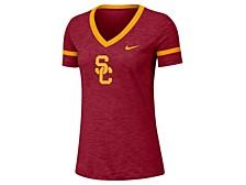 Women's USC Trojans Slub V-Neck T-Shirt