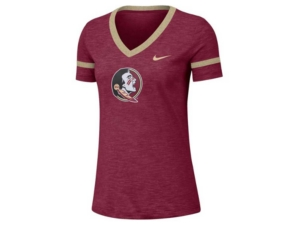 Nike Women's Florida State Seminoles Slub V-neck T-Shirt