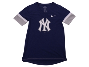 Nike Youth New York Yankees Girls V-Neck Hero T-Shirt