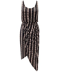 INC Petite Striped Asymmetrical Midi Dress, Created for Macy's