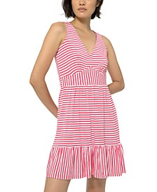 Striped Mini Dress, Regular & Petite Sizes