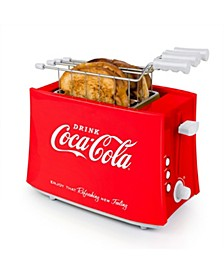 TCS2CK Coca-Cola Grilled Cheese Toaster with Easy-Clean Toaster Baskets and Adjustable Toasting Dial