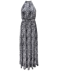 INC Halter-Neck Maxi Dress, Created for Macy's