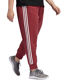 Plus Size 3-Stripes Fleece Jogger Pants